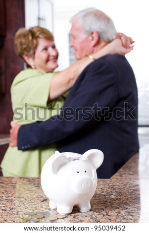 retirement investment for senior couple - stock photo