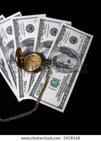 retirement is time and money - stock photo