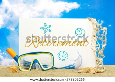 Retirement message board - stock photo