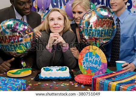 Retirement party - stock photo