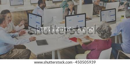 Retirement Pension Management Finance Estate Concept - stock photo