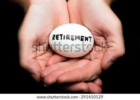 Retirement, Pension, Nest Egg. - stock photo