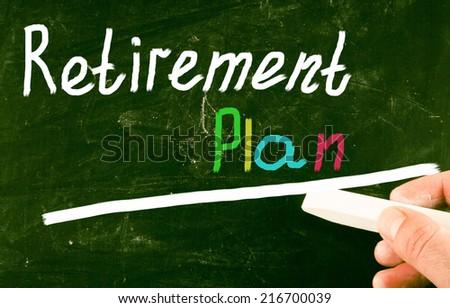 retirement plan concept - stock photo