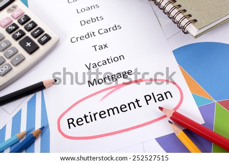 Retirement plan, pension fund saving concept. - stock photo