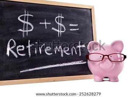 Retirement plan, saving, pension fund concept. - stock photo