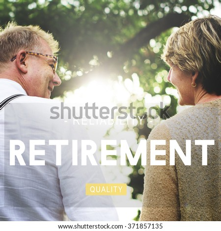 Retirement Retire Estate Fees Insurance Concept - stock photo