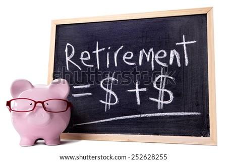 Retirement saving, pension fund concept. - stock photo