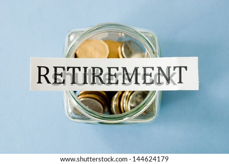 retirement savings  - stock photo
