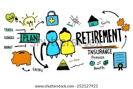 Retirement Senior Citizen Insurance Pension Management Concept - stock photo
