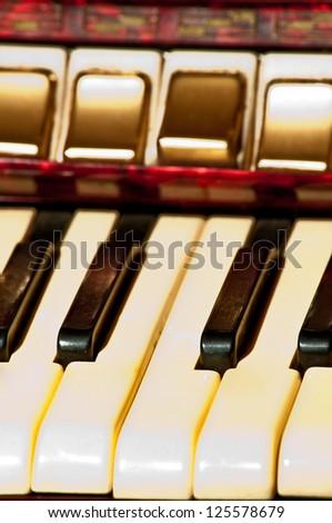 Retro accordion keys - stock photo