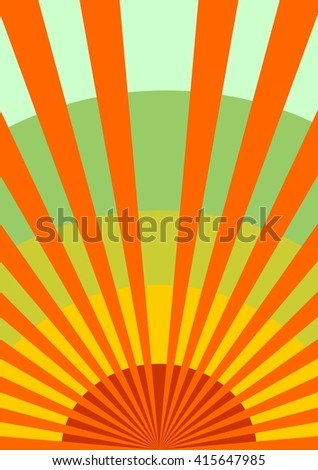 retro airplanes flight on sun burst backdrop. flyer image relative to airplane travellng