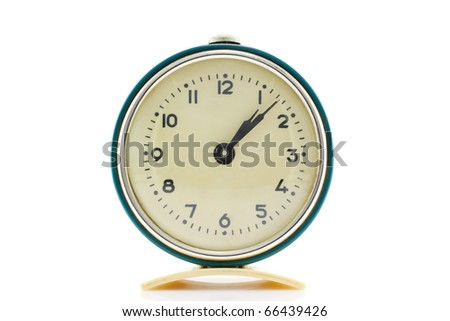 retro alarm clock isolated on white