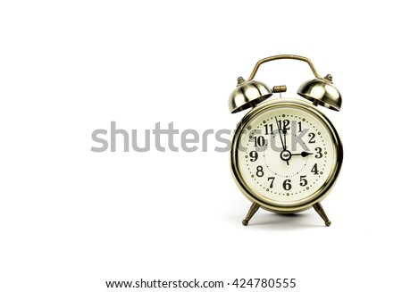 Retro alarm, Either the clock start at 3 am or 3 pm, depends on what it fits for ur concept. free space for your text here - stock photo