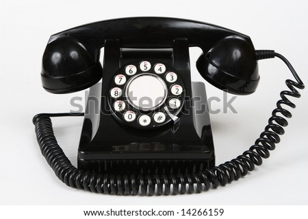 Retro antique 1950's style telephone - stock photo