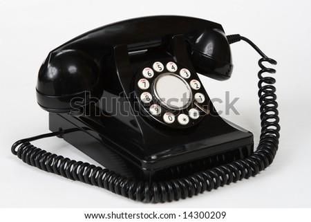 Retro antique 1950's style telephone - stock photo