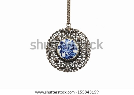 retro antiques pendant - stock photo