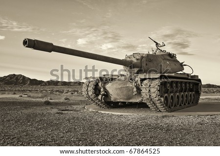 Retro Army Tank - stock photo