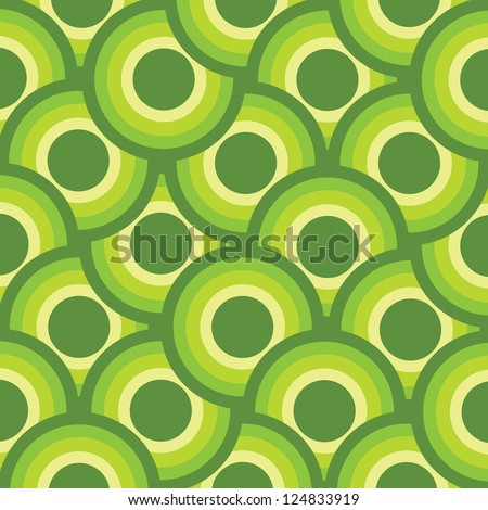 Retro background with a vintage pattern - stock photo