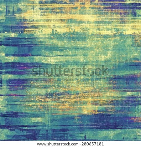 Retro background with grunge texture. With different color patterns: yellow (beige); blue; green; cyan - stock photo