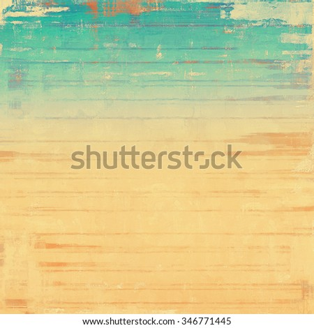 Retro background with grunge texture. With different color patterns: yellow (beige); brown; cyan; blue - stock photo