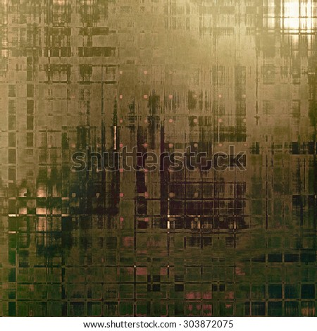 Retro background with grunge texture. With different color patterns: yellow (beige); brown; gray; green - stock photo