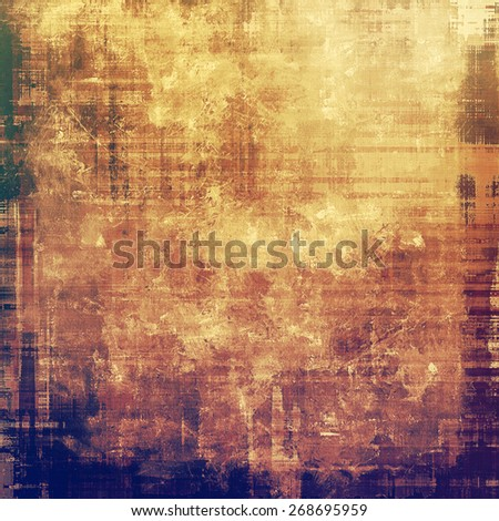 Retro background with old grunge texture. With different color patterns: brown; yellow (beige); purple (violet) - stock photo