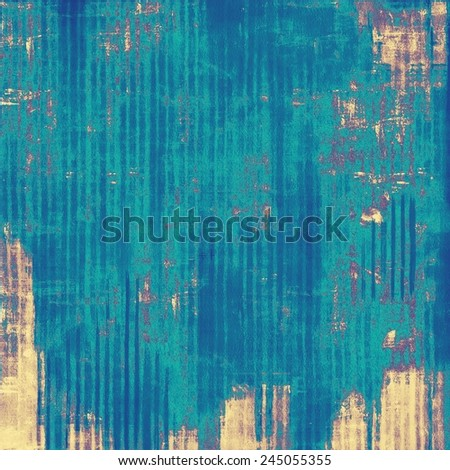 Retro background with old grunge texture. With different color patterns: purple (violet); yellow (beige); blue; cyan - stock photo