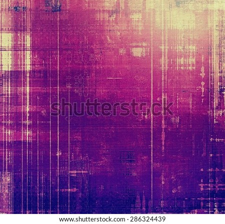 Retro background with old grunge texture. With different color patterns: yellow (beige); blue; purple (violet); pink - stock photo