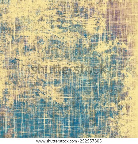 Retro background with old grunge texture. With different color patterns: yellow (beige); blue; cyan; purple (violet) - stock photo