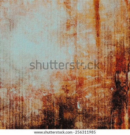 Retro background with old grunge texture. With different color patterns: yellow (beige); brown; blue; red (orange) - stock photo