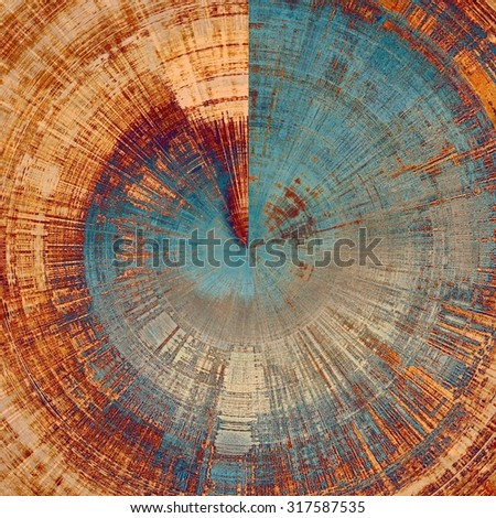 Retro background with old grunge texture. With different color patterns: yellow (beige); brown; gray; blue - stock photo