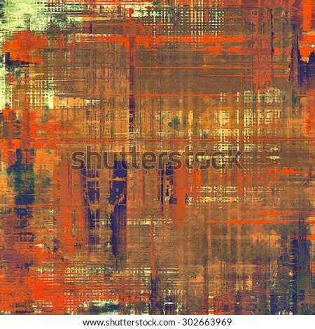 Retro background with old grunge texture. With different color patterns: yellow (beige); brown; red (orange); purple (violet) - stock photo
