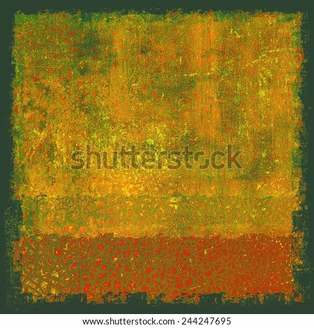 Retro background with old grunge texture. With different color patterns: yellow (beige); red (orange); brown; green - stock photo