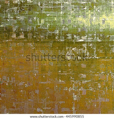 Retro background with vintage style design elements, scratched grunge texture, and different color patterns: yellow (beige); brown; gray; green; white