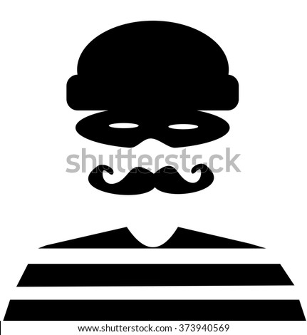 retro bank robber wearing mask