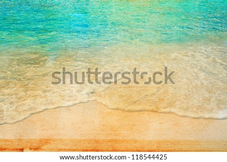 Retro beach grunge style - stock photo
