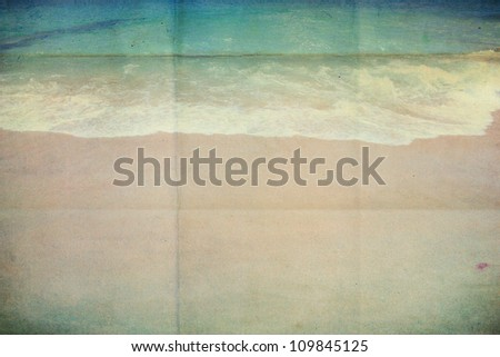 Retro beach with sand - stock photo
