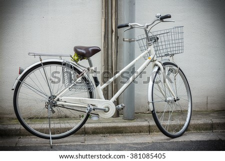 retro bicycle with basket