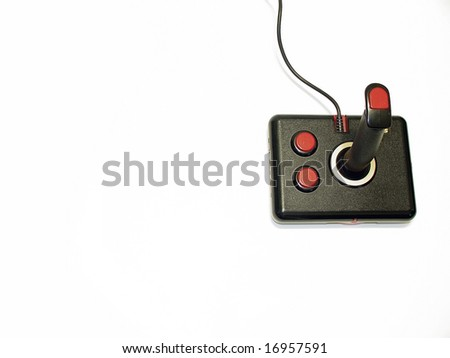 Retro black and red computer game controller