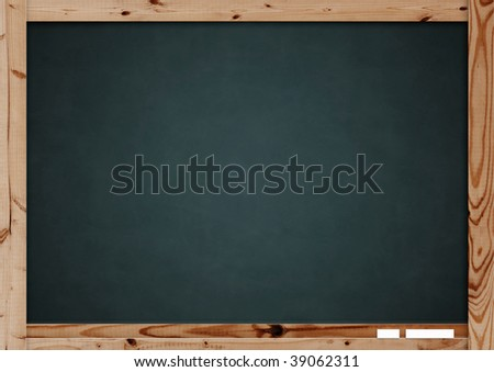 Retro blackboard with wooden frame