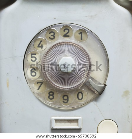 retro blue phone,dial number - stock photo