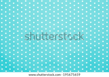 retro blue polka dot pattern  - stock photo