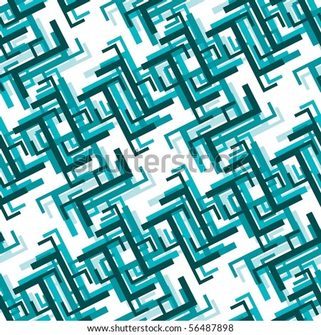Retro blue seamless tile background - stock photo