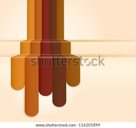 Retro Brown Colour Abstract Background (jpg). Vector version also available - stock photo