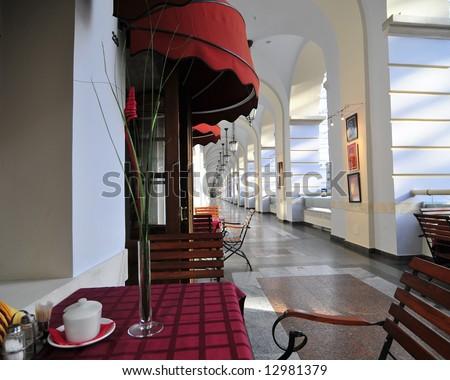 Retro cafe - stock photo