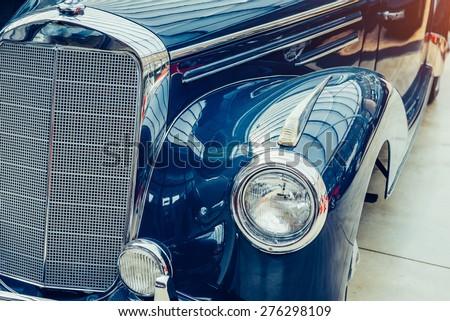 Retro car. - stock photo