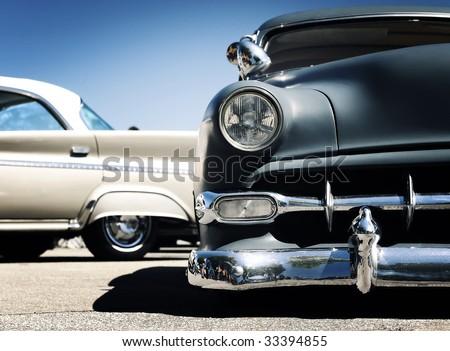 Retro car - American classics - stock photo