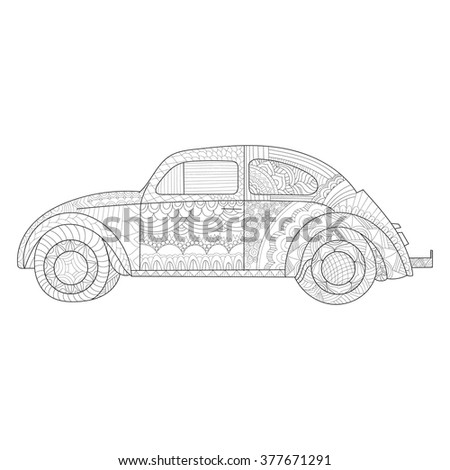 Coloring page limousine car limo cartoon stock vector for Coloring pages with lots of detail