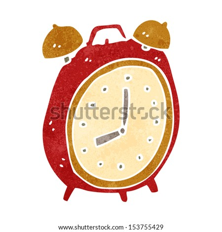 retro cartoon alarm clock - stock photo