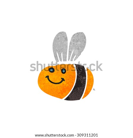 retro cartoon bee - stock photo